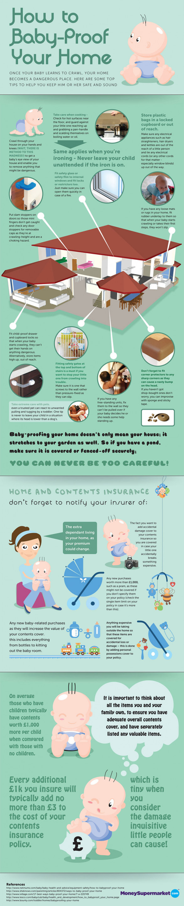 How to Baby-Proof Your Home [Infographic]