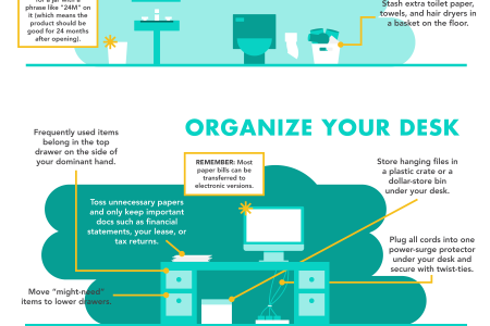 How to Be the Most Organized Person in the World Infographic