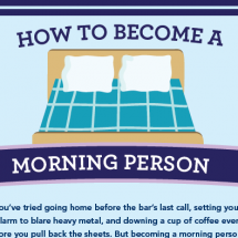 How to Become a Morning Person Infographic