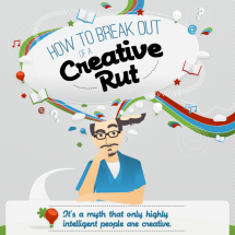 How to Break Out of a Creative Rut Infographic