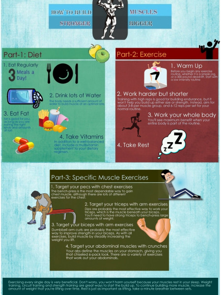 How to Build Muscle Fast Infographic