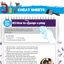 DIY Cheat Sheet - How to Change a Plug Infographic