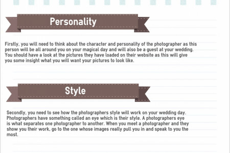 How to choose a wedding photographer Infographic