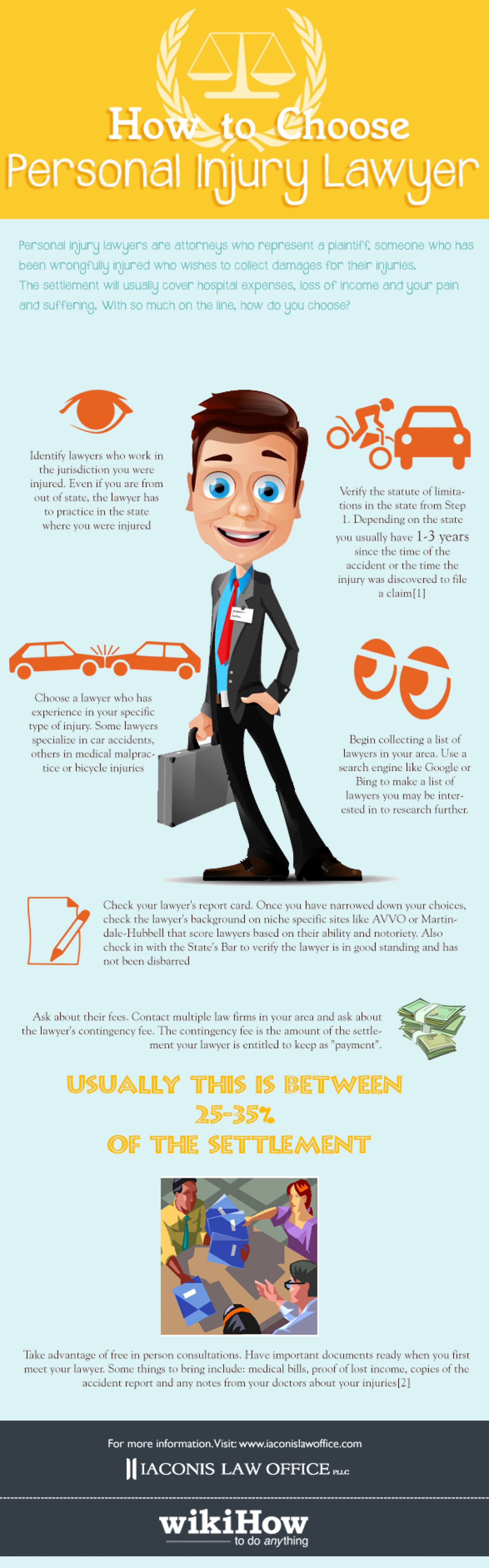 How to Choose Personal Injury Lawyer Infographic