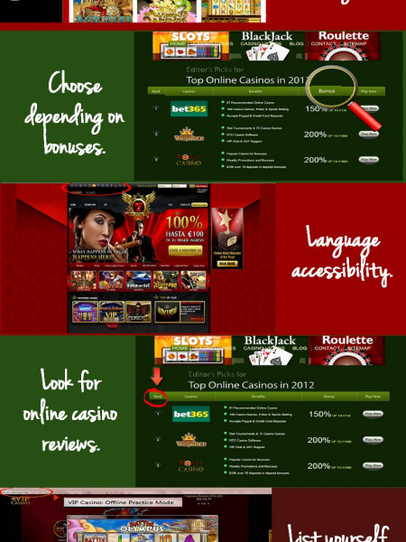 How to Choose the Best Online Casino Infographic