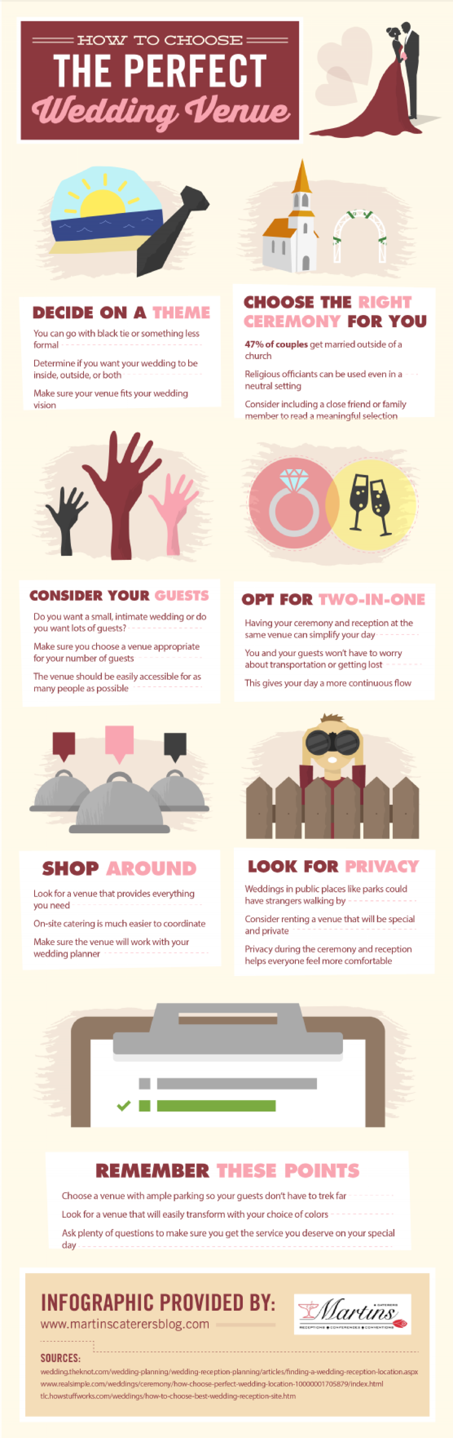 How to Choose the Perfect Wedding Venue Infographic