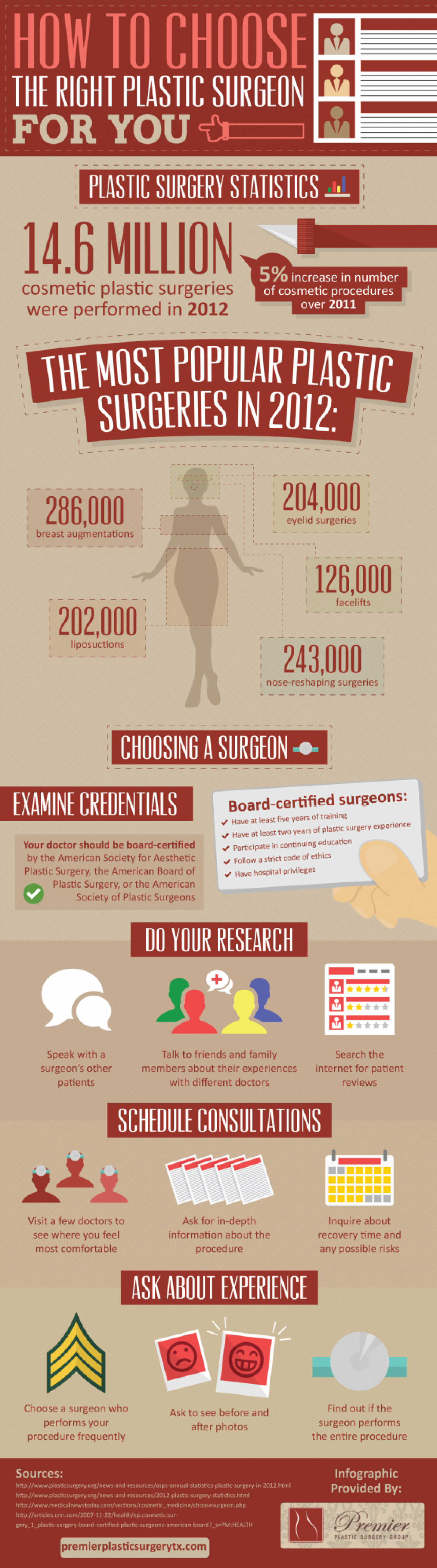 How to Choose the Right Plastic Surgeon for You Infographic