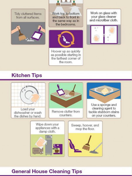 How to Clean Your House in Under 24 hours Infographic