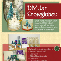 How to Create DIY Snowglobes Infographic