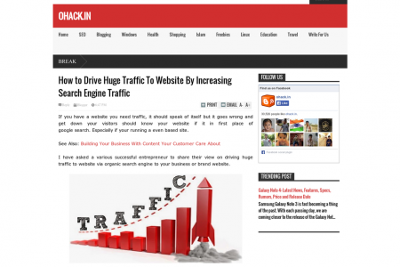 How to Drive Huge Traffic To Website By Increasing Search Engine Traffic Infographic
