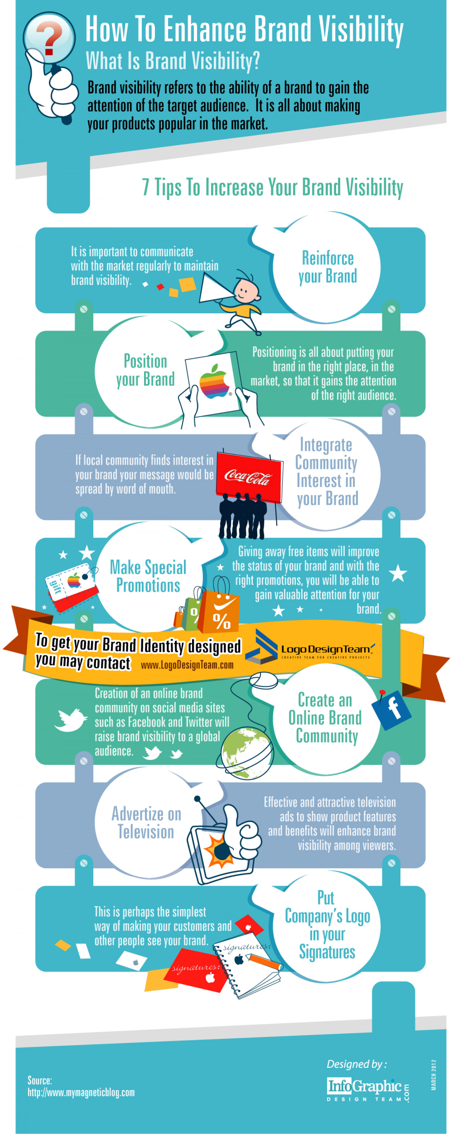 How To Enhance Brand Visibility Infographic