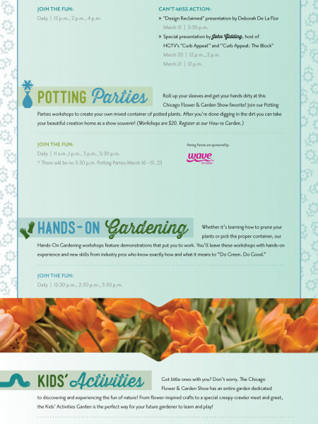 2014 Chicago Flower & Garden Show Infographic