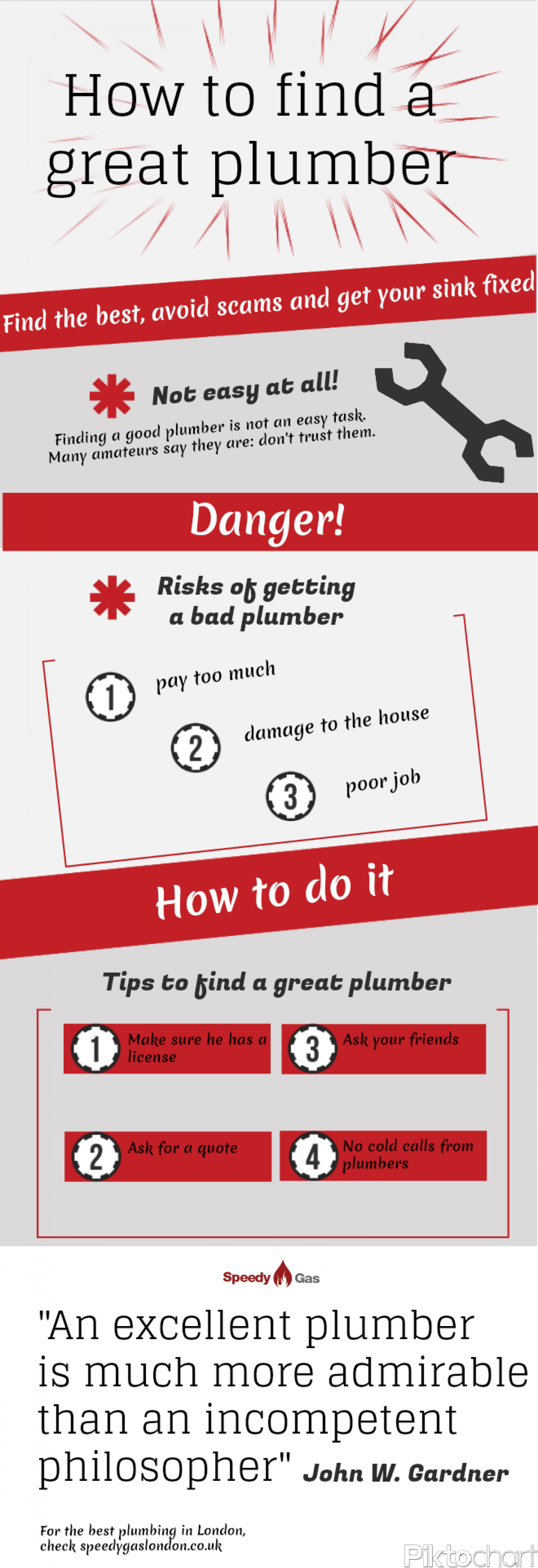 How to Find a Great Plumber Infographic
