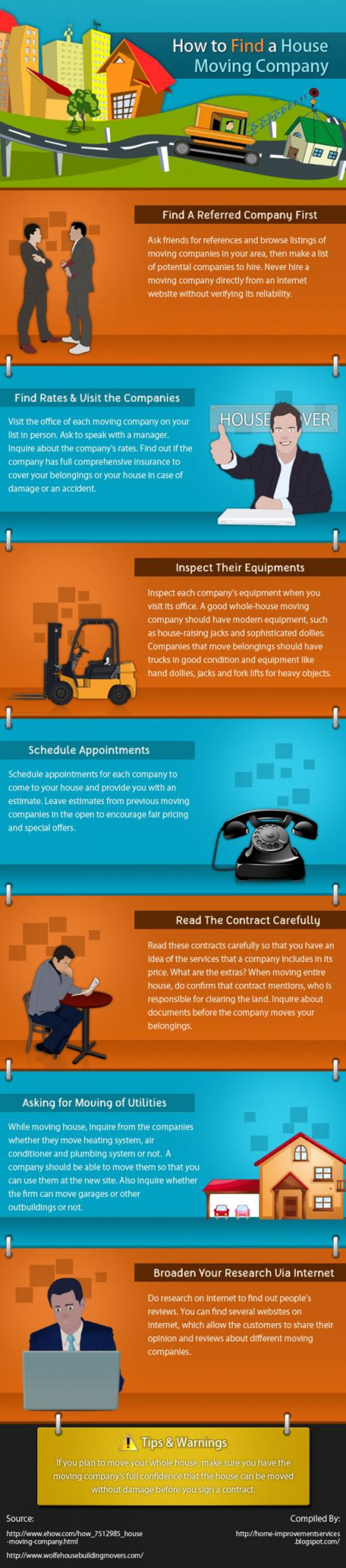 How To Find a House Moving Company Infographic