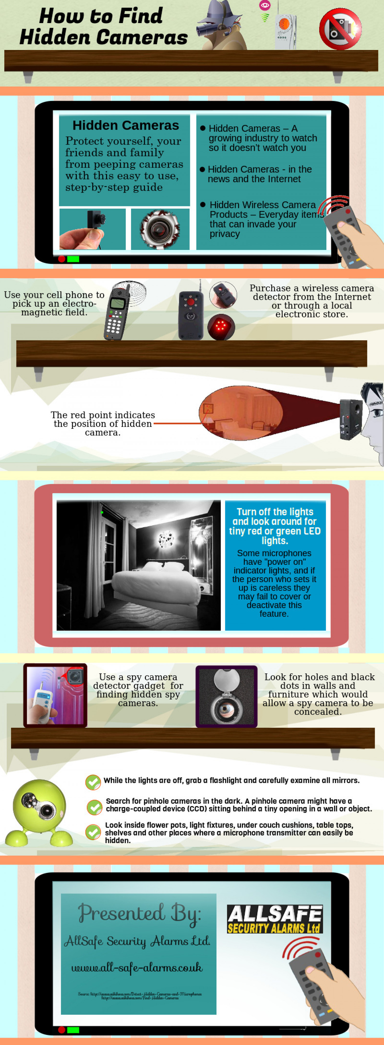 How to find Hidden Cameras Infographic