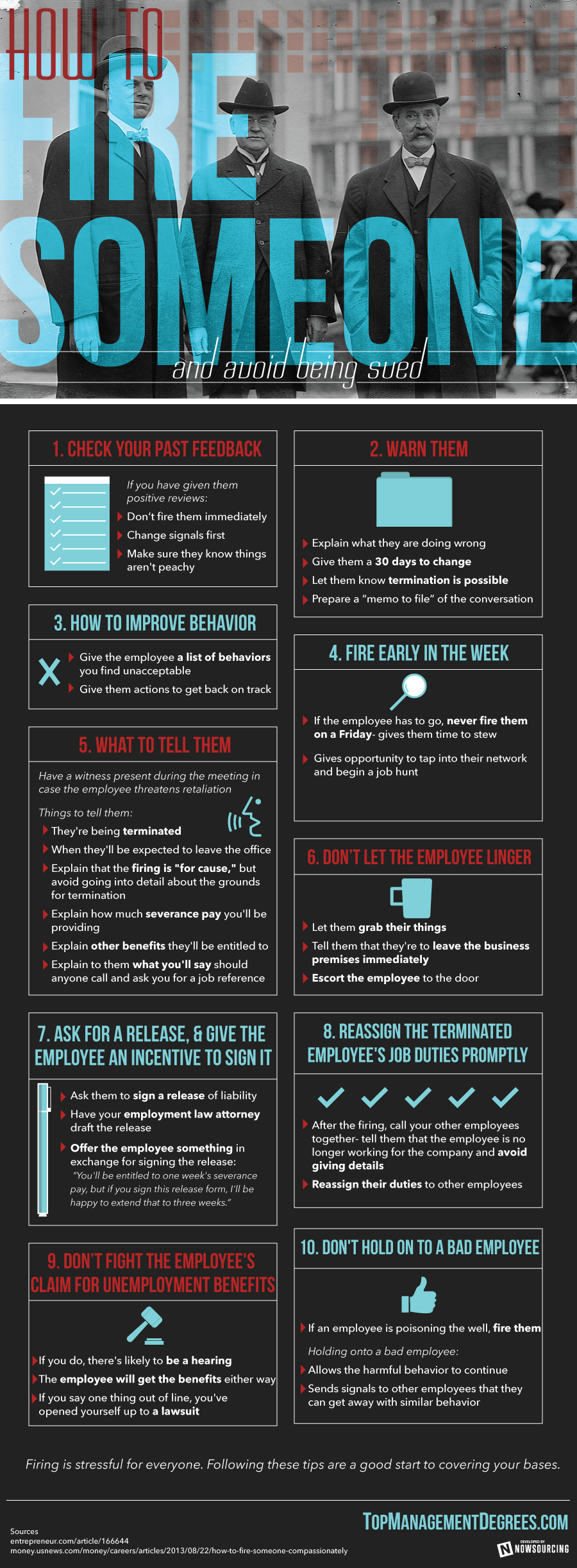 How To Fire Someone And Avoid Being Sued [Infographic]