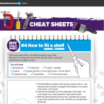 DIY Cheat Sheet - How to Fit a Shelf Infographic
