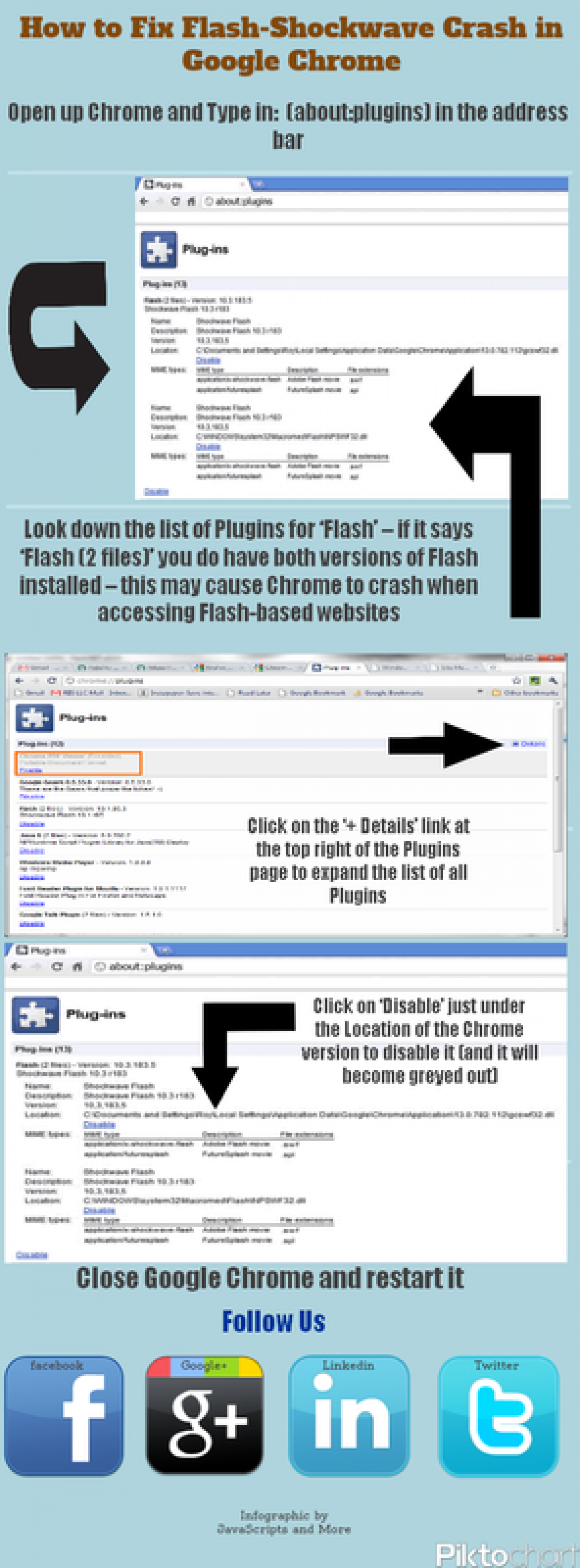 How to fix Shockwave-Flash Crash in Google Chrome Infographic