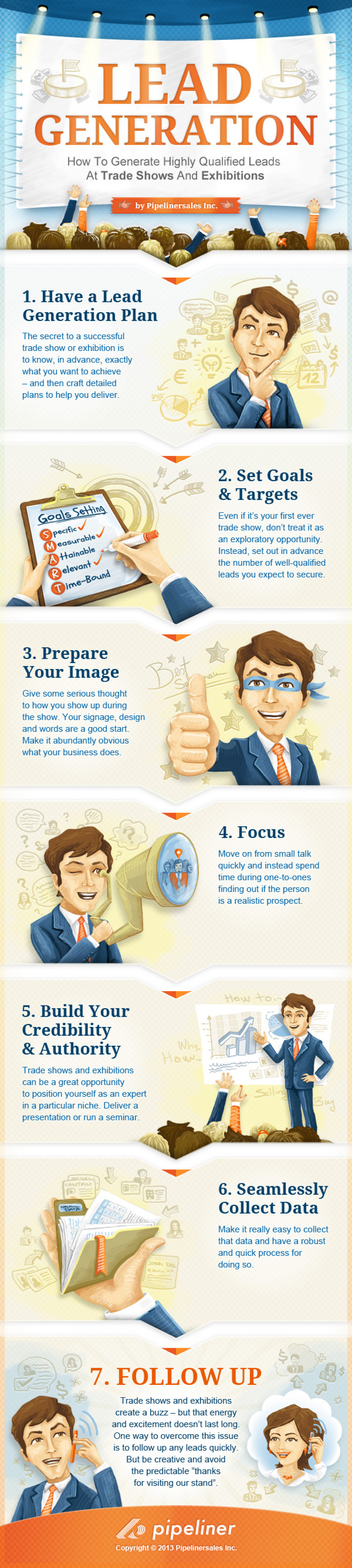 How to Generate  Business Leads at Trade Shows Infographic