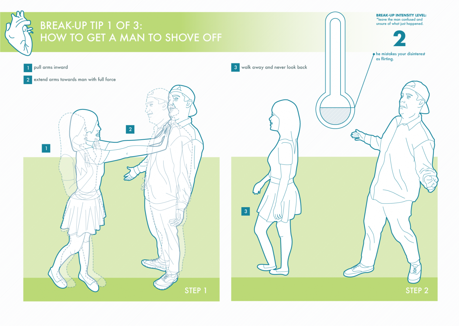 How to get a man to shove off Infographic