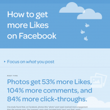 How to Get More Likes on Facebook Infographic