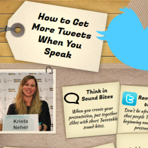 How to Get More Tweets When You Speak Infographic