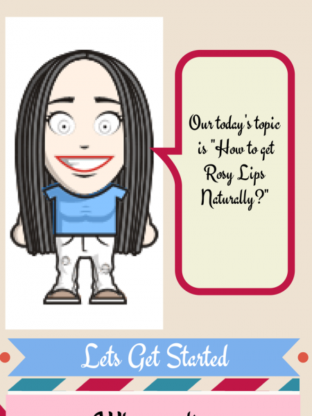 How to Get Pink Lips Naturally : Top 5 Ways Infographic