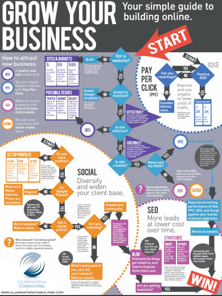 How To Grow Your Business Online Infographic