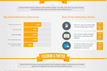 How to Grow Your Email, Mobile, & Social Audiences Infographic