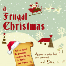 How to have a frugal chrsitmas Infographic