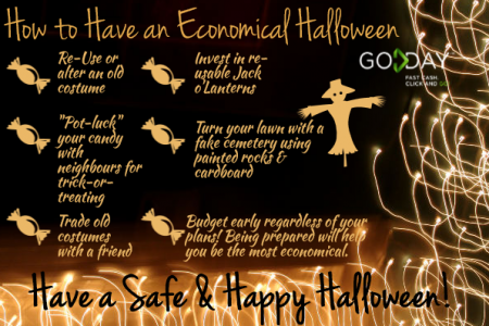 How To Have An Economical Halloween Infographic