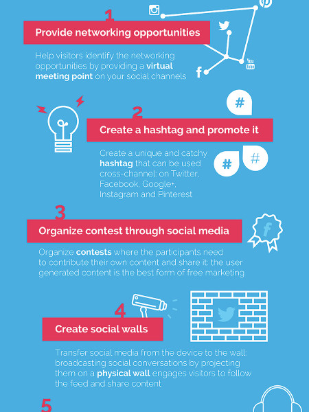 How To Integrate Social Media Into Big Events Infographic
