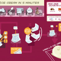 How to Make Ice Cream In 5 Minutes Infographic