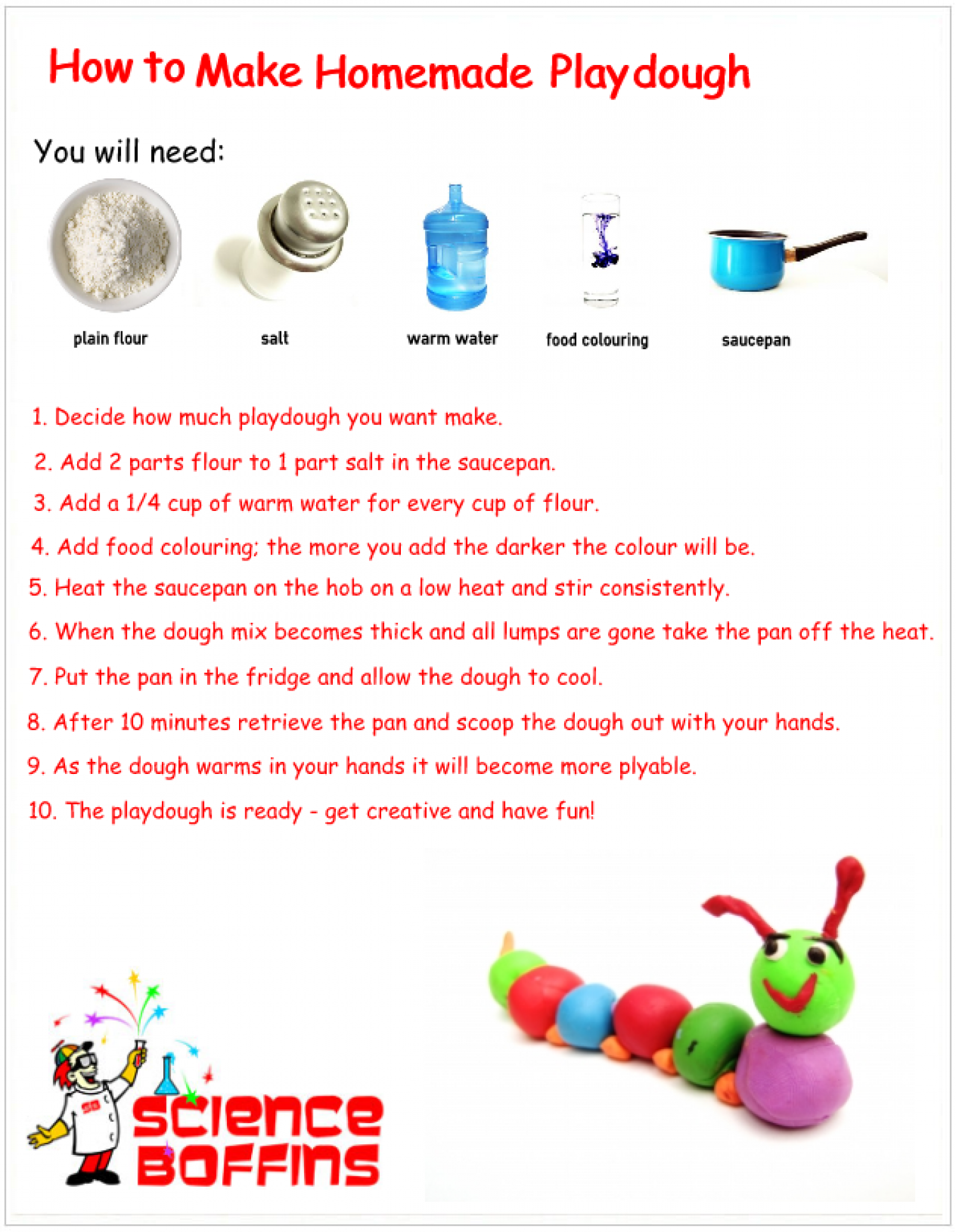 How To Make PlayDough Infographic