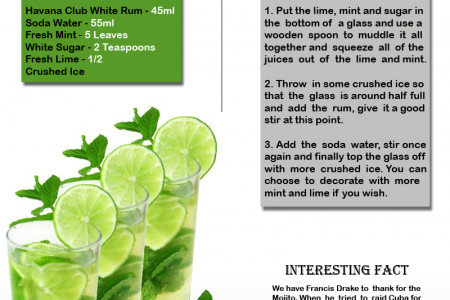How To Make The Perfect Mojito Infographic