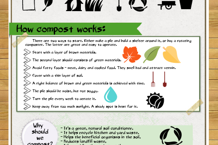How To Make Your Own Compost Pile Infographic