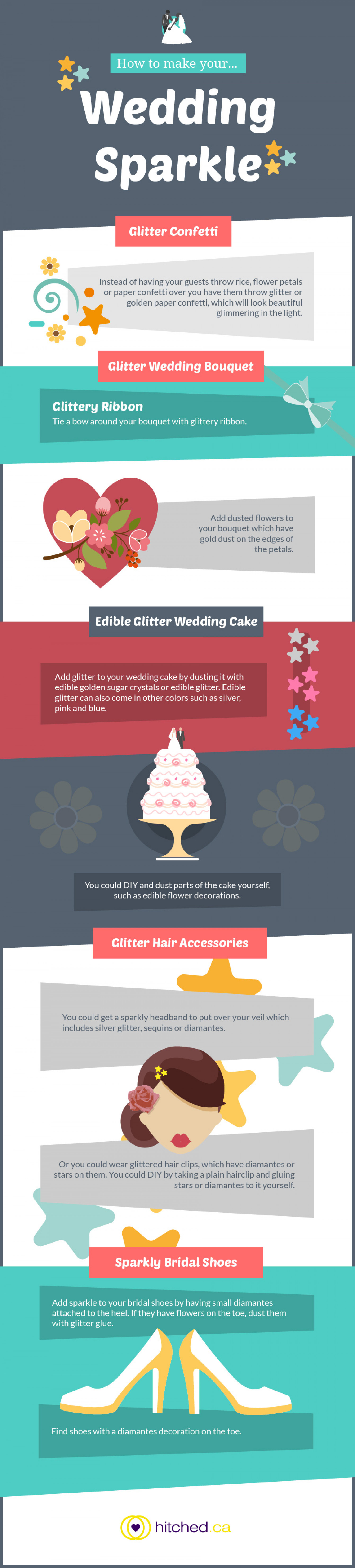 How To Make Your Wedding Day Sparkle  Infographic