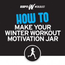 How to make your winter workout motivation jar Infographic