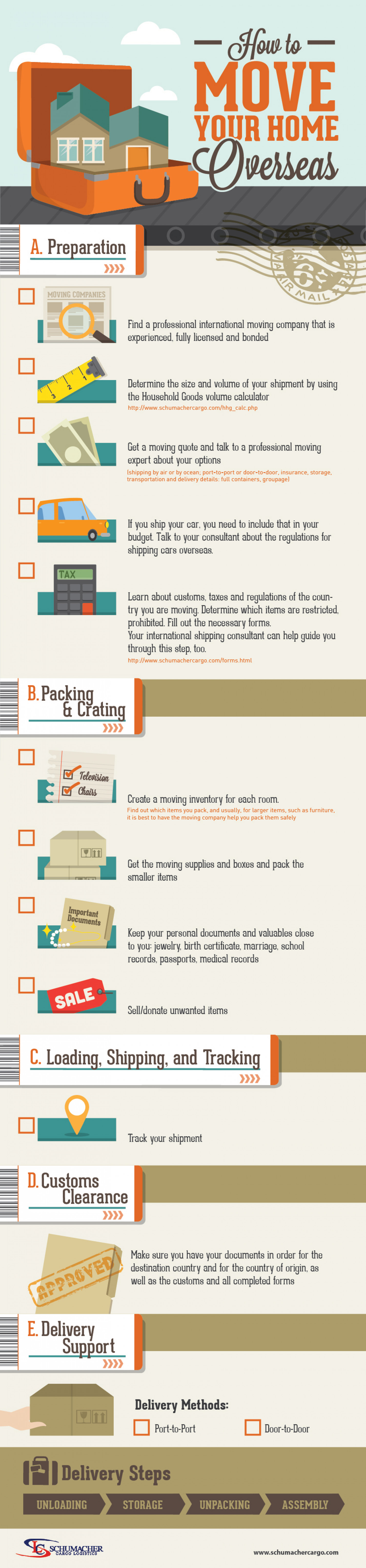 How to Move Your Home Overseas Infographic