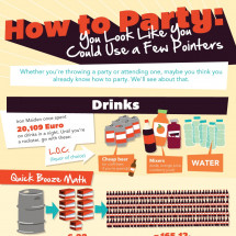 How to Party: You Look Like You Could Use a Few Pointers Infographic