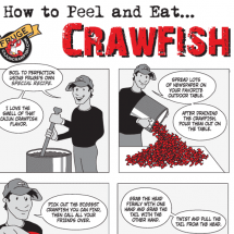 How to Peel and Eat Crawfish Infographic