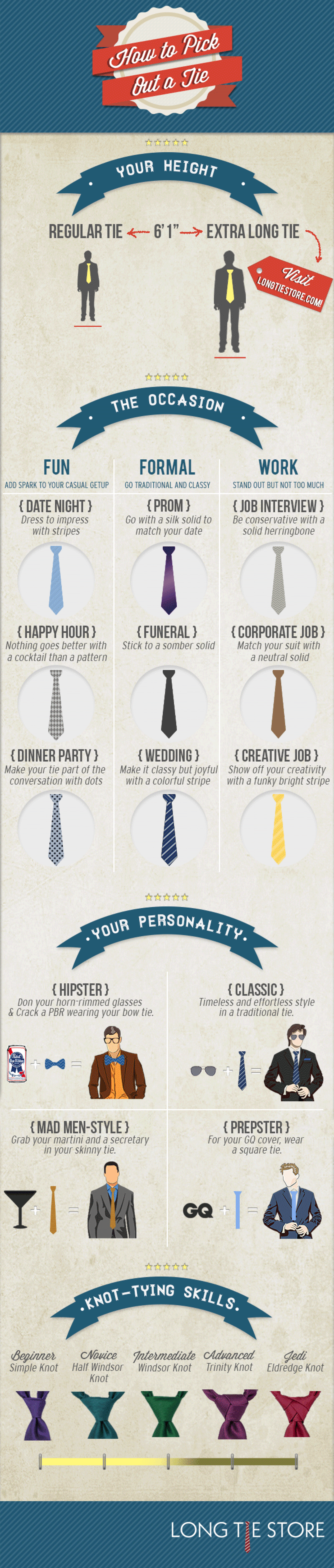 How To Pick Out A Tie Infographic