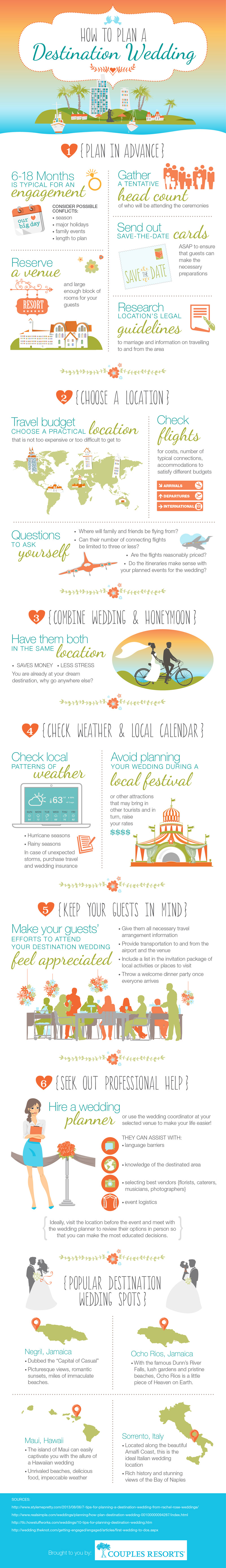 How To Plan A Destination Wedding Infographic Visualistan