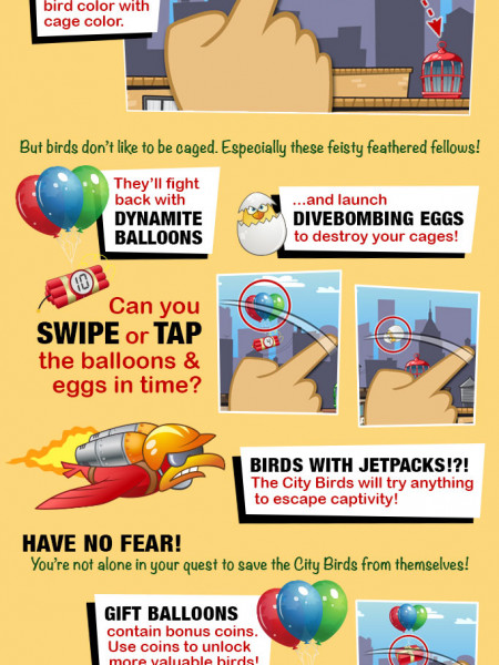 How To Play City Birds - Infographic Infographic