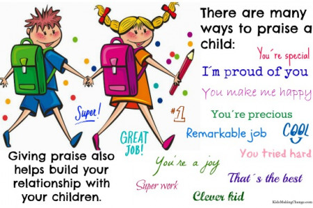 How to praise your kids Infographic