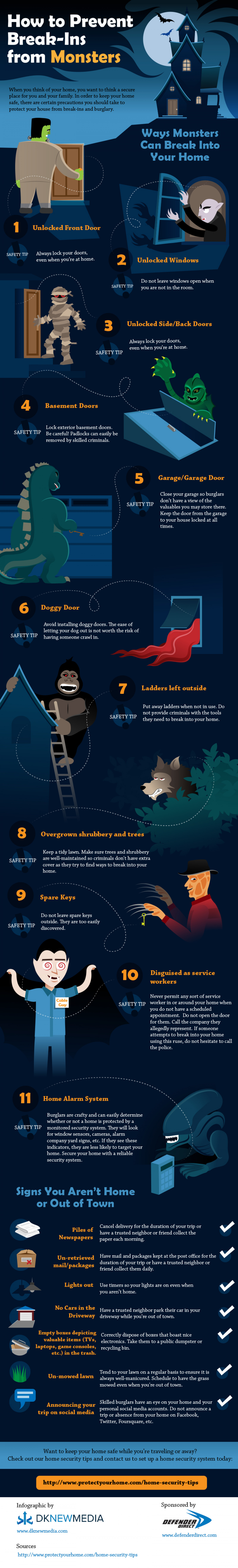 How to Prevent Break-Ins from Monsters Infographic