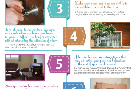 How to prevent residential burglary Infographic