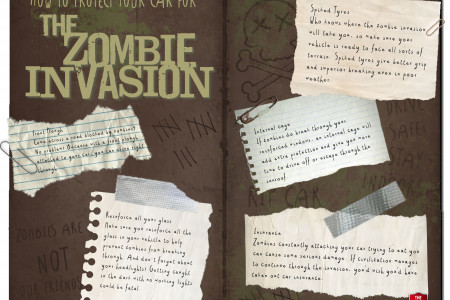 How to Protect Your Car for The Zombie Invasion Infographic