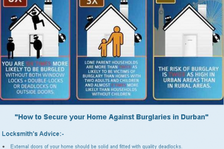 How to Secure your Home in Durban - South Africa Infographic