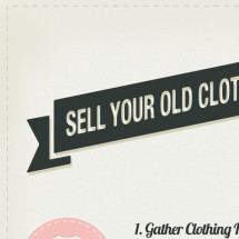 How To Sell Your Old Clothes Online Infographic